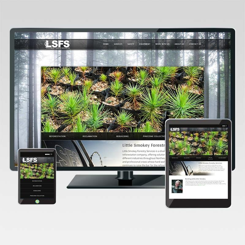 Little Smokey Forestry Services Responsive Website